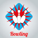 Bowling design Royalty Free Stock Photos