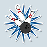 Bowling design. Over blue background vector illustration Royalty Free Stock Photo