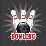 Bowling design Stock Photo