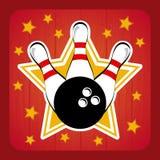 Bowling design Royalty Free Stock Photo