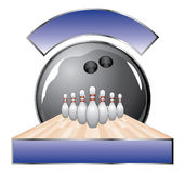 Bowling Design Template Lane Stock Photography