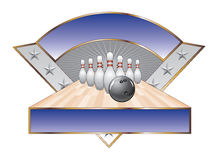 Bowling Design Template Triangle Royalty Free Stock Photography