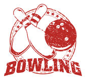 Bowling Design - Vintage Royalty Free Stock Photos