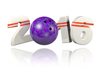 Bowling 2016 design Royalty Free Stock Photography
