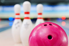 Bowling in details. Royalty Free Stock Image