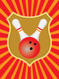 Bowling emblem. Vector illustration of a bowling emblem Royalty Free Stock Image