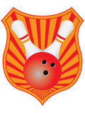 Bowling emblem. Vector illustration of a bowling emblem Royalty Free Stock Images