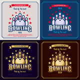 Bowling emblem Royalty Free Stock Images