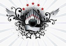 Bowling Emblem. Grunge Vector Illustration Royalty Free Stock Photo