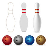 bowling equipment Royalty Free Stock Photo