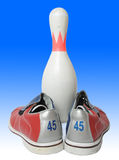 Bowling equipment Royalty Free Stock Image