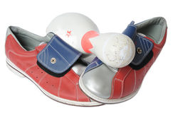 Bowling equipment Stock Photography