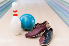 Bowling equipment. Stock Image