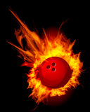 Bowling Fire Ball Vector. Bowling Fire Ball on black vector illustration Royalty Free Stock Photo