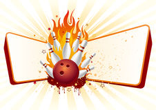Bowling with flames. Bowling design element and flames Royalty Free Stock Photo