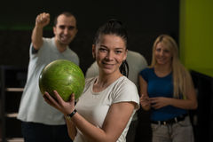 Bowling With Friends Stock Image
