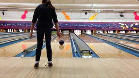 Bowling fun stock video footage