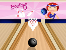 Girl Bowling Stock Illustrations 137 Girl Bowling Stock