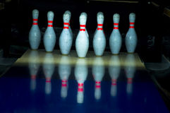 Bowling game Royalty Free Stock Images