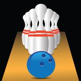 Bowling game Royalty Free Stock Image