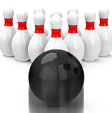 The bowling game Stock Photography