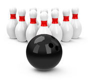 The bowling game Royalty Free Stock Photography
