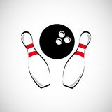 Bowling game design Stock Images