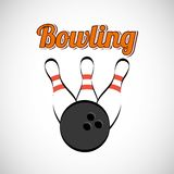 Bowling game design Royalty Free Stock Photography
