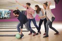 Bowling game Royalty Free Stock Photography