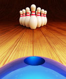 Bowling game illustration and strike concept Royalty Free Stock Photo