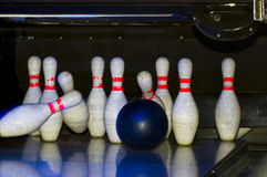 Bowling game Stock Photography