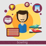 Bowling Game Player Man Icon Stock Photo