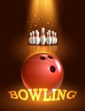 Bowling game poster Stock Photo