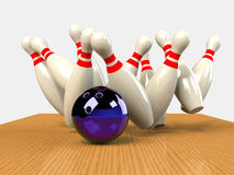 Bowling  Game Strike rot Stock Image