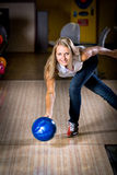 Bowling girl Stock Images