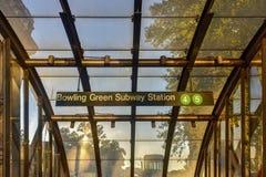 Bowling Green地铁站-纽约 库存图片