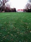 Bowling Green auf nach Westen Front von Mount Vernon Stockfotos