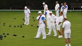 Bowling green bowling balls stock video