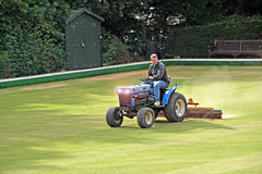 Bowling green maintenance Stock Image