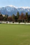 Bowling Green mit einer Ansicht Lizenzfreie Stockfotos