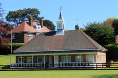 Bowling green pavilion Royalty Free Stock Images
