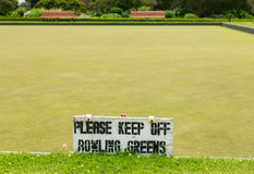 Bowling green in Rotorua in Government Park NZ Royalty Free Stock Photography