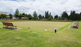 Bowling green in Rotorua in Government Park NZ Stock Photo