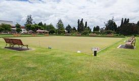 Bowling Green in Rotorua im Regierungs-Park NZ Stockfoto