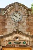 Bowling Green Subway Station. Close up detail of the entrance to the Bowling Green subway staion New York city stock photo