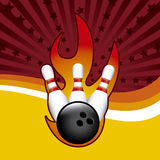 Bowling grunge. Bowling design over grunge background vector illustration Royalty Free Stock Photo