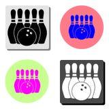 bowling Icône plate de vecteur illustration libre de droits
