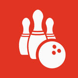 The bowling icon. Game symbol. Flat Stock Photography