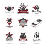 Bowling icon set - 2 Royalty Free Stock Images