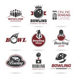Bowling icon set - 3 Royalty Free Stock Photography